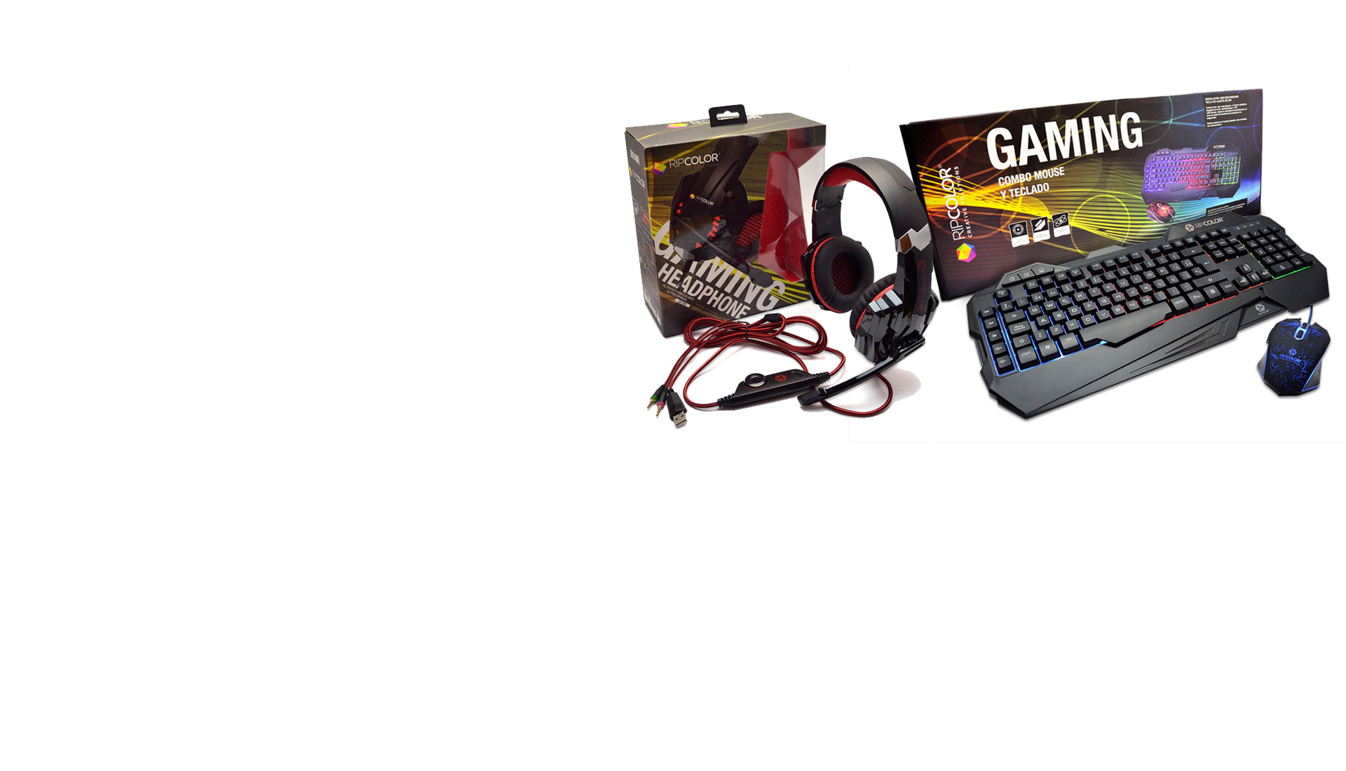 Combo y Auricular Gaming