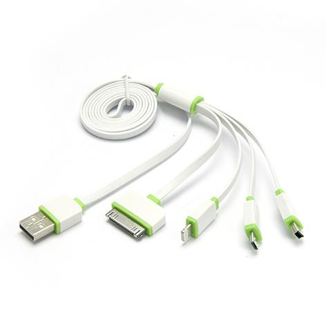 4 en 1 Micro-IP6-MiniUSB-IP4 verde y Blanco